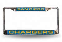 San Diego Chargers Laser Chrome License Plate Frame