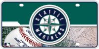 Seattle Mariners Metal License Plate