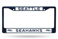 Seattle Seahawks Anodized Navy License Plate Frame