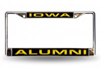 Iowa Hawkeyes Alumni Laser Chrome License Plate Frame