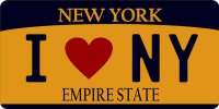 I Love New York Photo License Plate