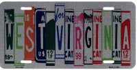 West Virginia Cut Style Metal License Plate