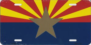 Arizona Flag Big Star Personalized