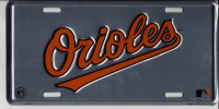 Baltimore Orioles Anodized License Plate