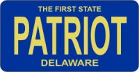 Design It Yourself Delaware State Look-Alike Bicycle Plate #2