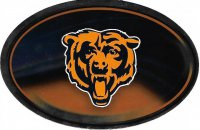 Chicago Bears Chrome Die Cut Oval Decal