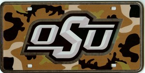 Oklahoma State Camouflauge laser license Plate