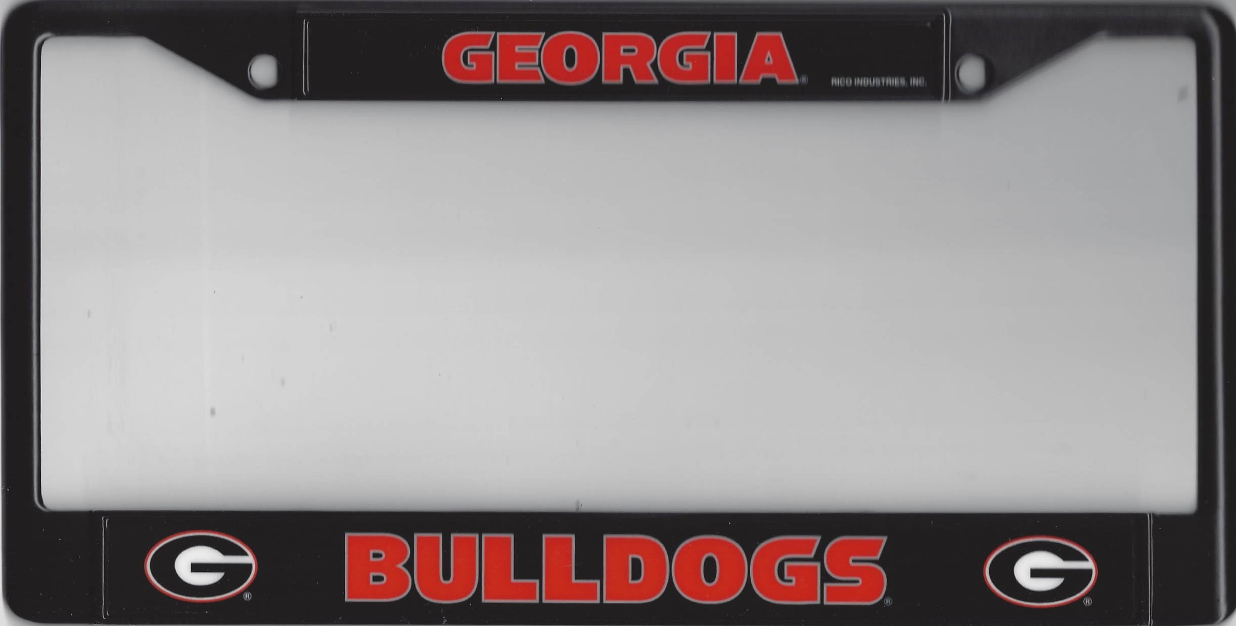 Georgia Bulldogs Black License Plate Frame Georgia Bulldogs Black ...