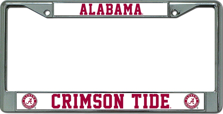 Alabama Crimson Tide Chrome License Plate Frame Alabama Crimson Tide ...