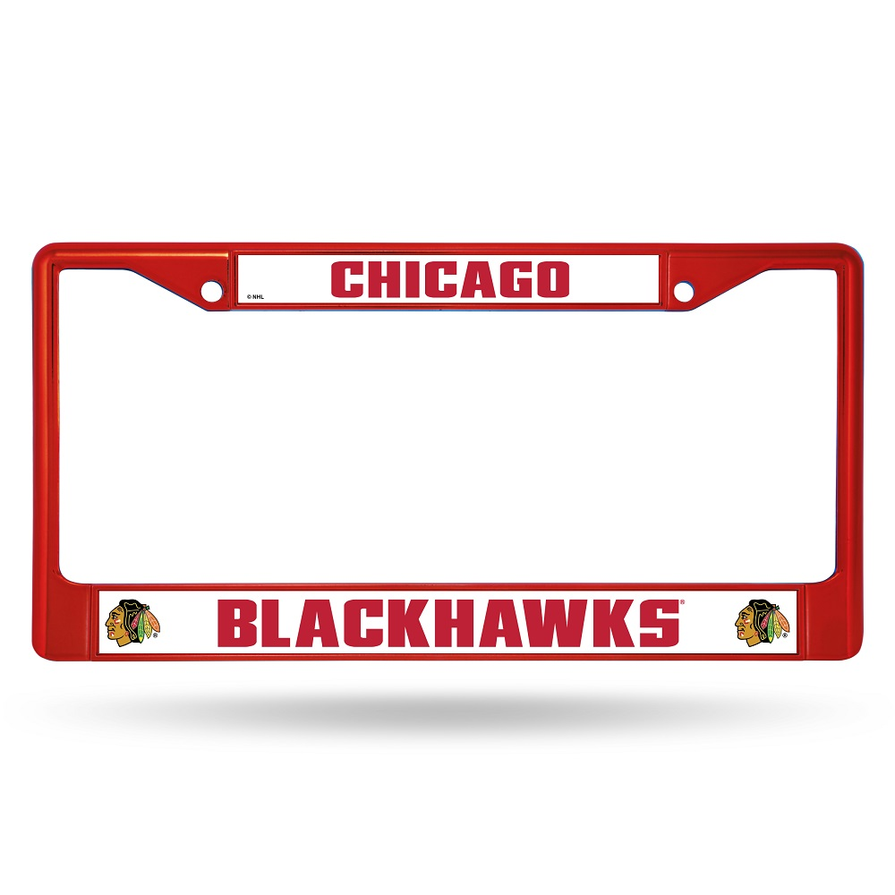 Chicago Blackhawks Anodized Red License Plate Frame Chicago ...