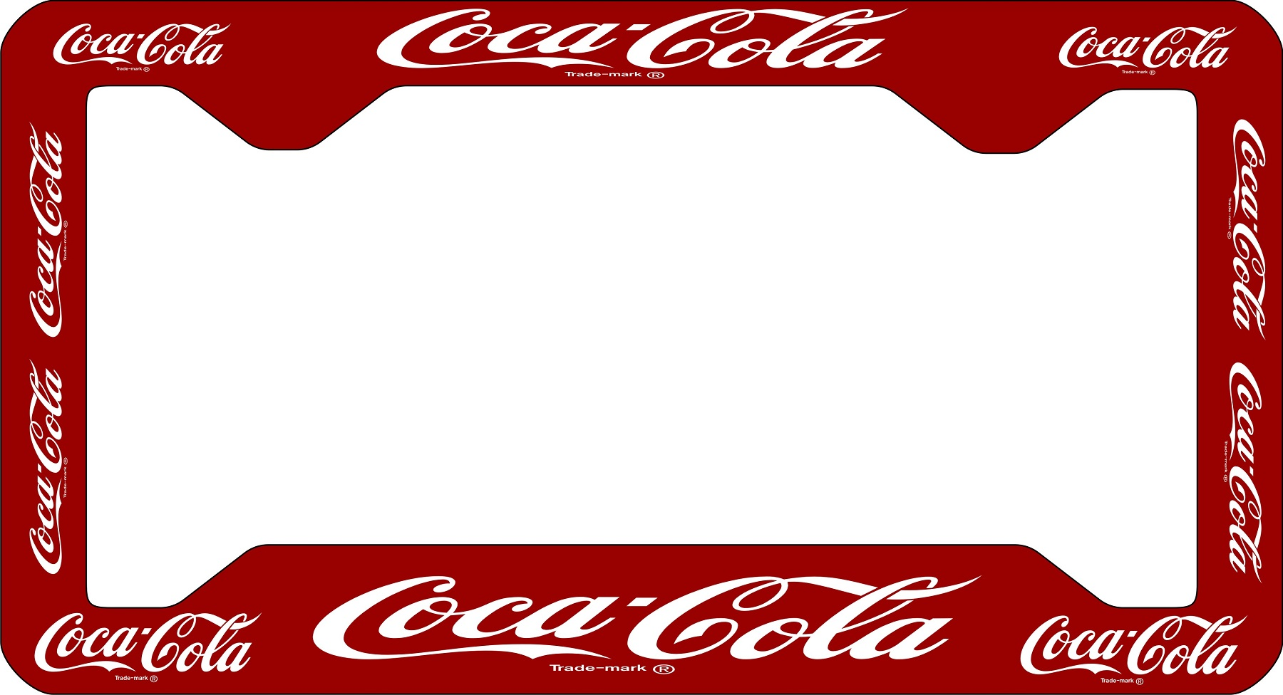 Coca Cola License Plate Frame Coca Cola Vinyl License Plate Frame ...