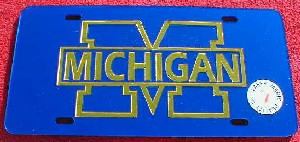 University of Michigan Wolverines Laser Team Plate