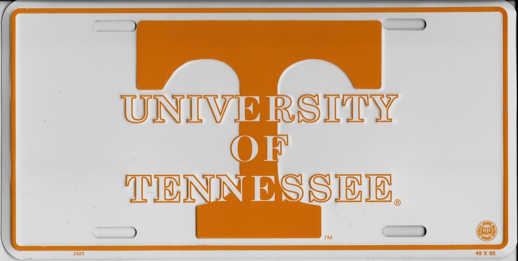 University Of Tennessee Volunteers Metal License Plate