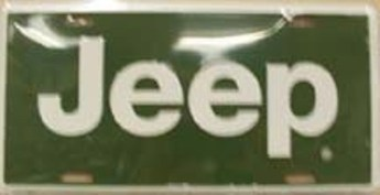 Dixie Jeep White Logo on Green License Plate at Sears.com