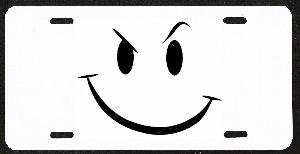 Design It Yourself Smiley Face Smirk Custom License
