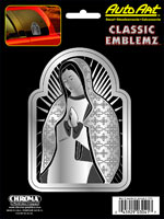 Spiritual Mother Mary - Chrome/Black Embossed Decal