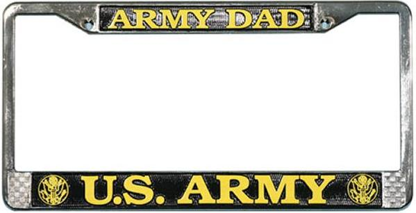 lfa05 us army dad chrome license plate frame lfa05 larger image