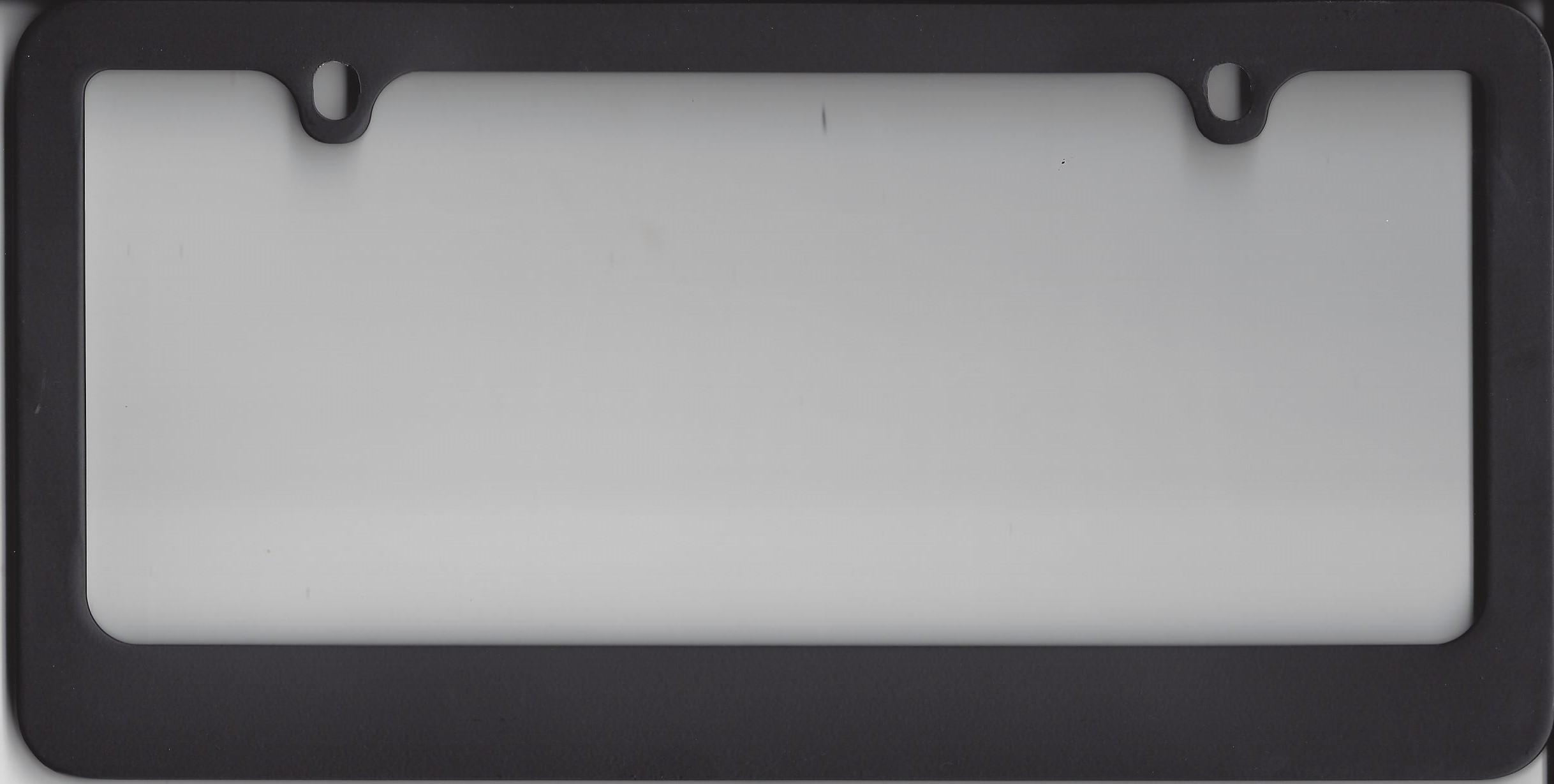 Blank Smooth Heavy Duty Black 2-Hole License Plate Frame Blank ...