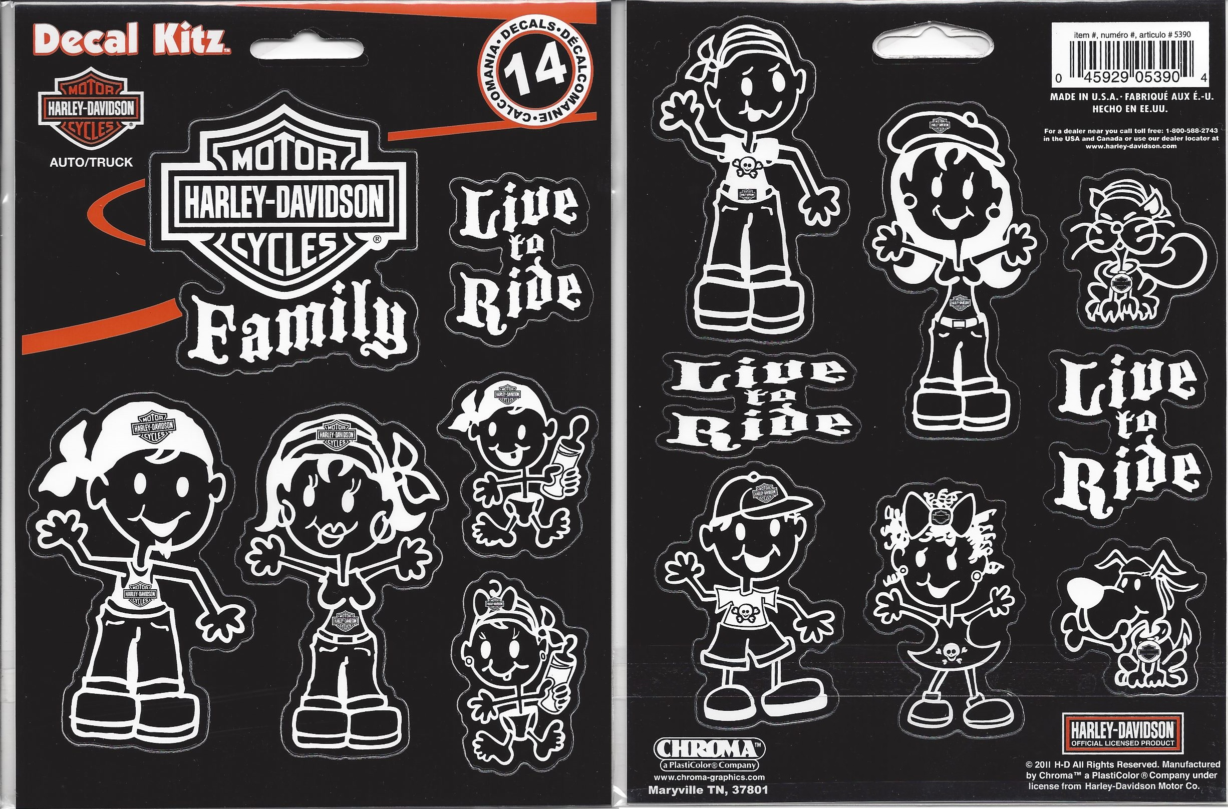 HARLEY DAVIDSON Family Decal Set