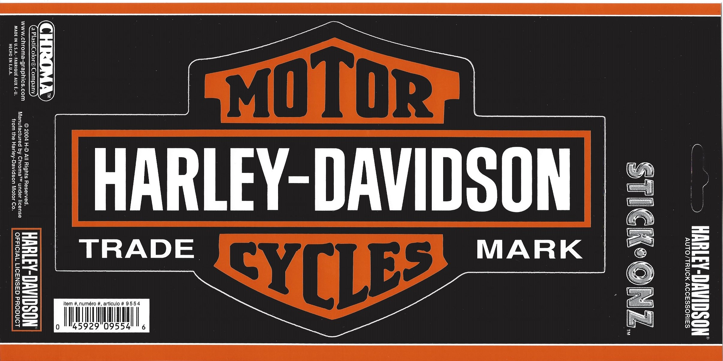 HARLEY DAVIDSON Bar and Shield Large Decal