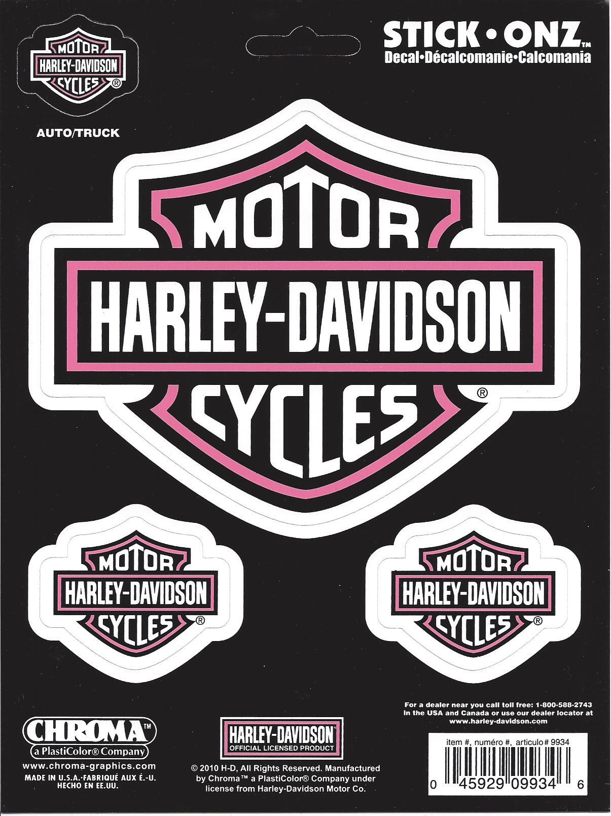 Chroma Graphics Decals Harley-Davidson White With Pink Decal Set at Sears.com