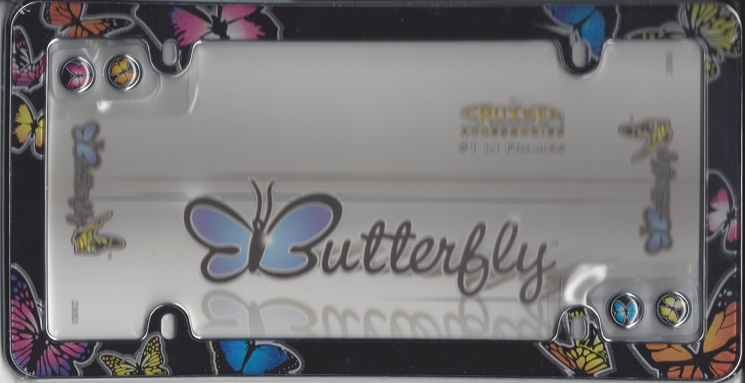Butterfly Plastic License Plate Frame Butterfly Plastic License ...