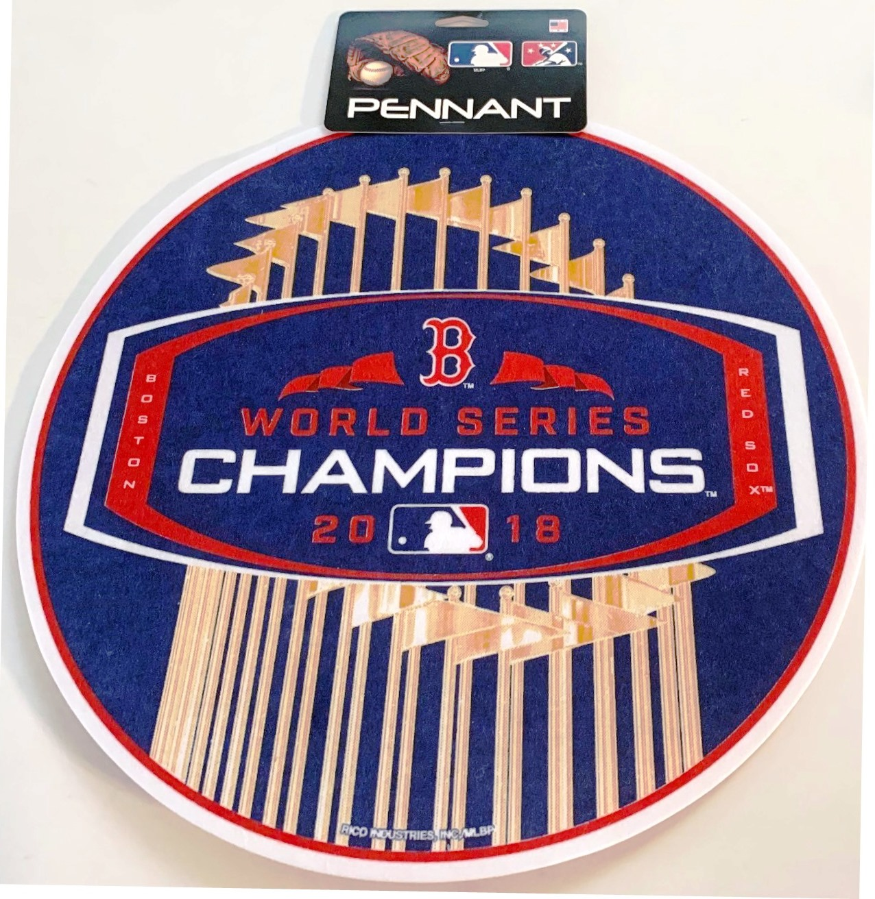 Boston RED SOX 2018 World Series Champs Pennant