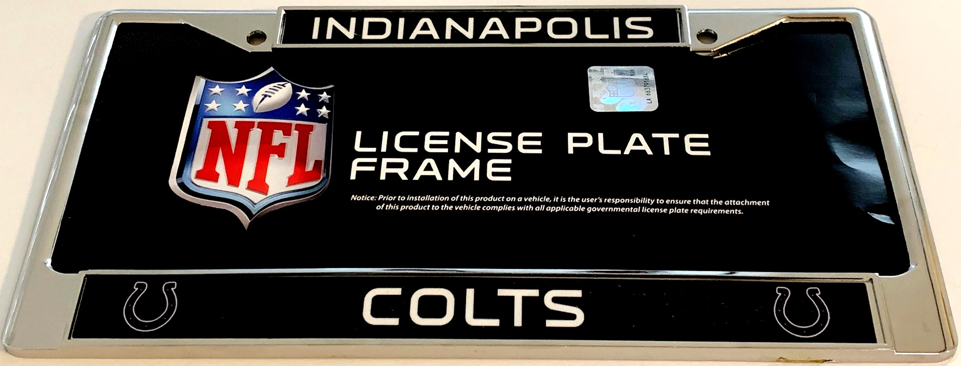 Indianapolis Colts Chrome License Plate Frame Indianapolis Colts ...