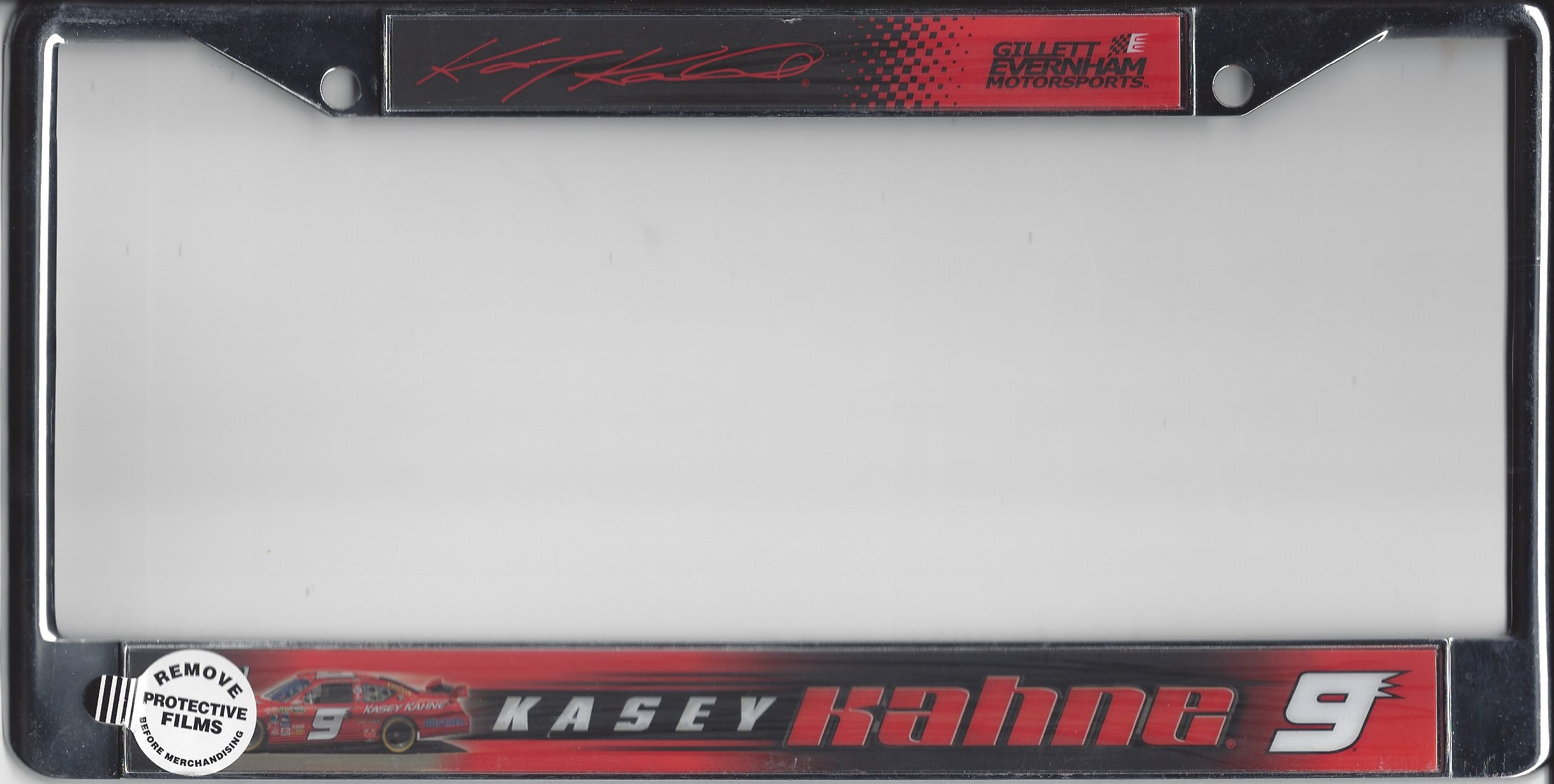 Kasey Kahne #9 License Plate Frame Kasey Kahne #9 License Plate ...