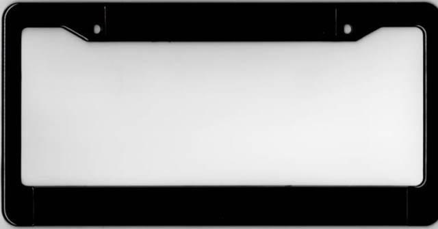Black Double Panel Plastic License Plate Frame Black Double Panel ...