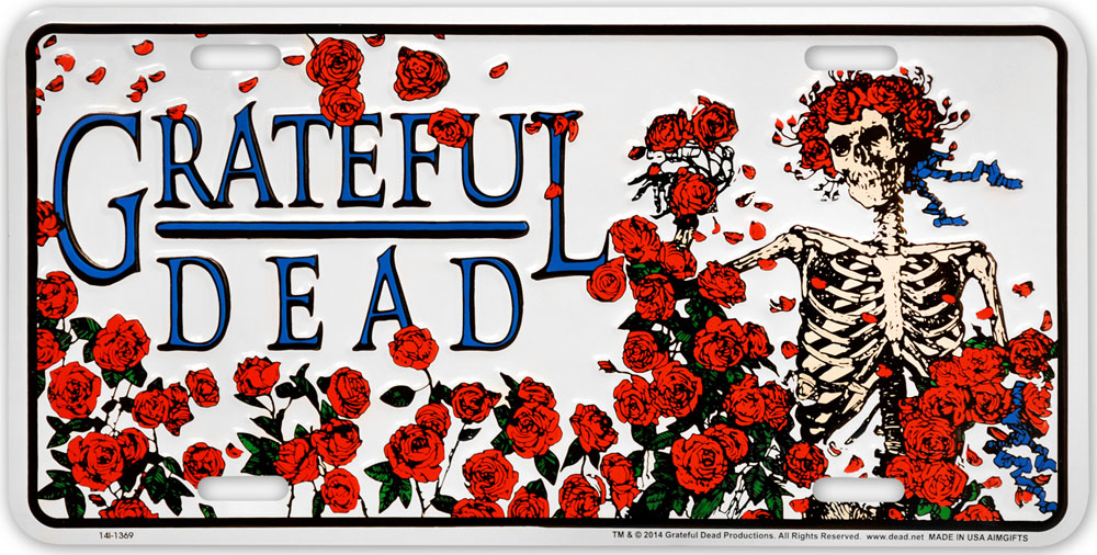 GRATEFUL DEAD Roses Metal License Plate