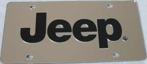Jeep Silver Laser Cut License Plate