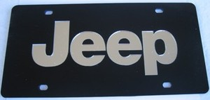 Jeep Black Laser Cut License Plate
