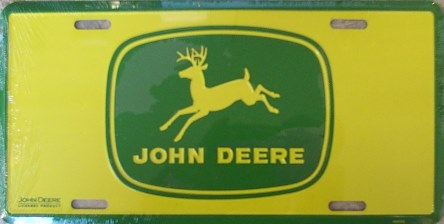 Dixie John Deere - Green on Yellow License Plate at Sears.com