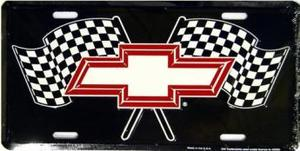 Chevy Racing Flags License Plate