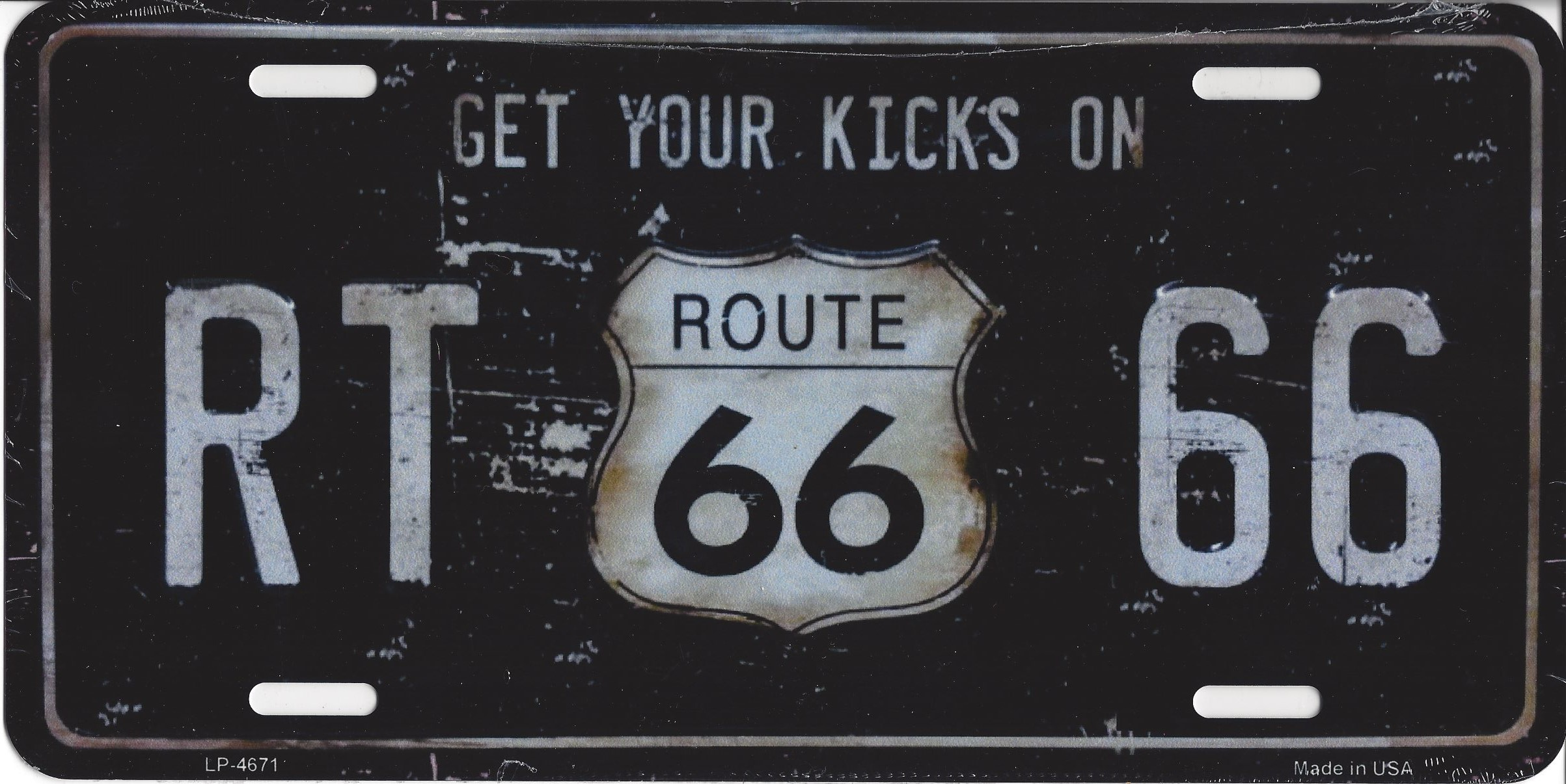 ROUTE 66 RT 66 License Plate