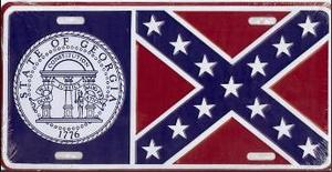 Georgia State Flag License Plate Lp10 9 99
