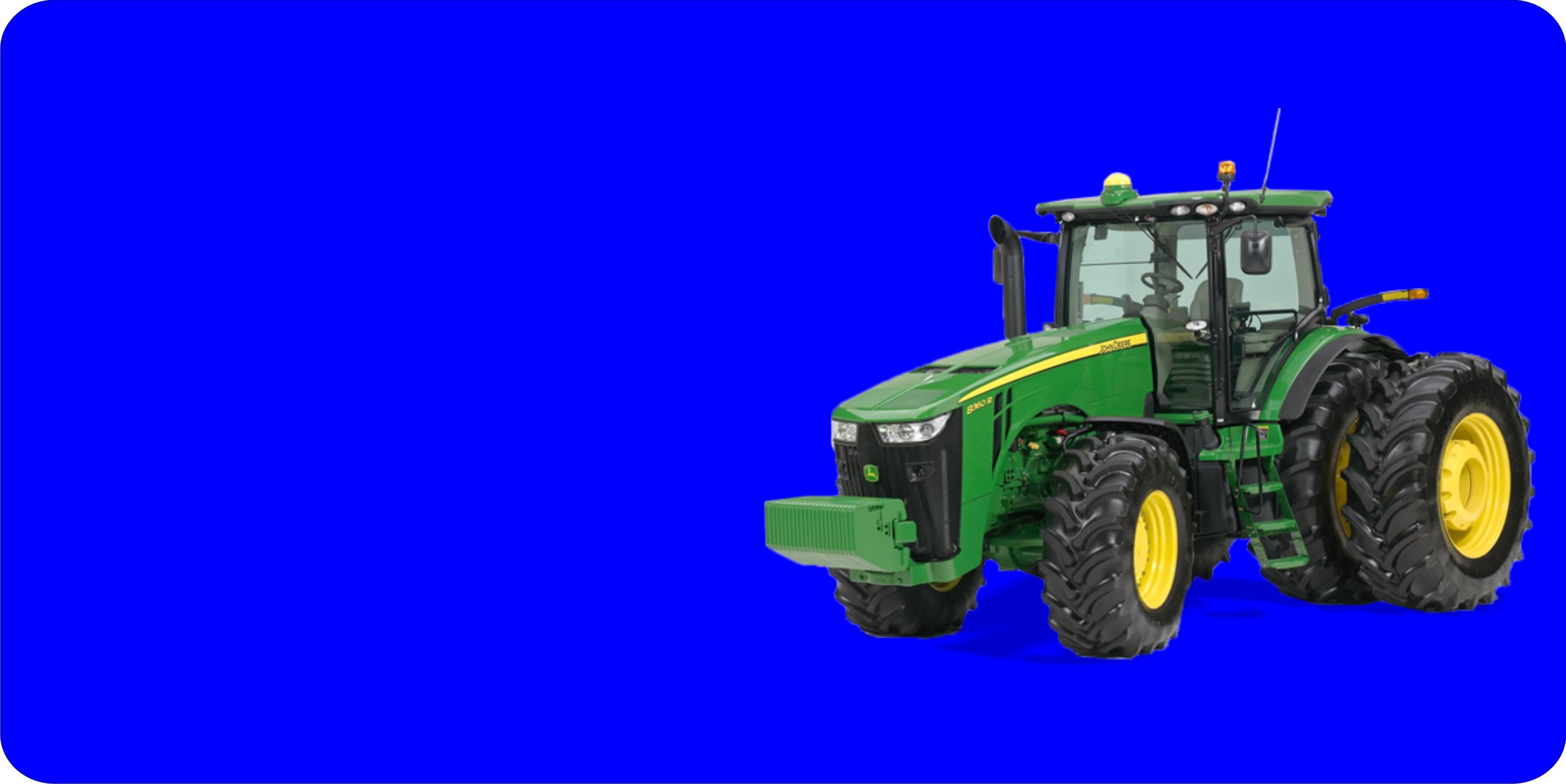 JOHN DEERE Tractor Offset On Blue Plate