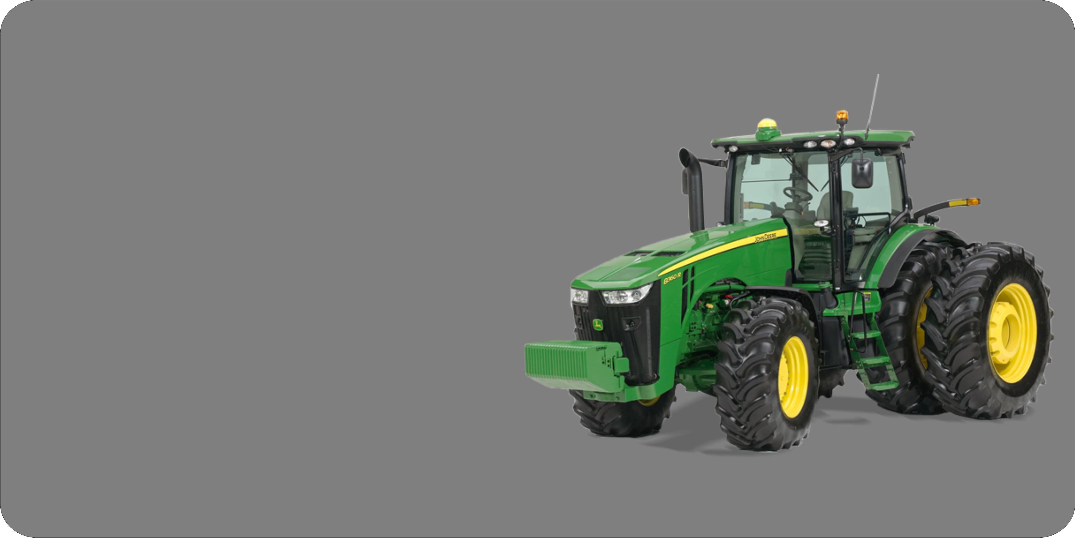 JOHN DEERE Tractor Offset On Grey Plate