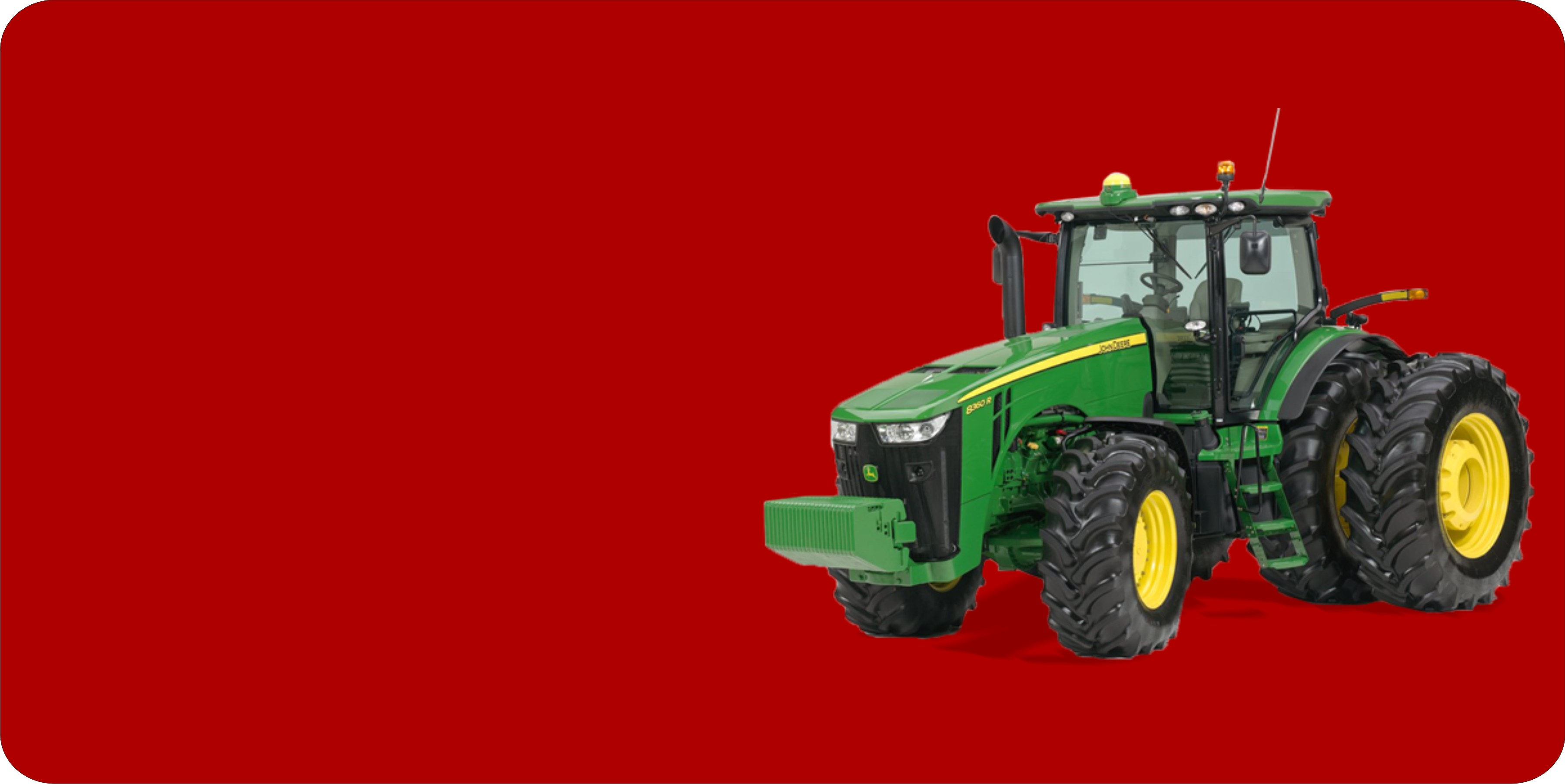 JOHN DEERE Tractor Offset On Red Plate