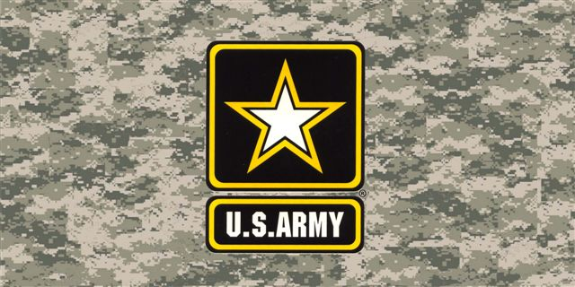 Army DIGITAL Camo PHOTO License Plate