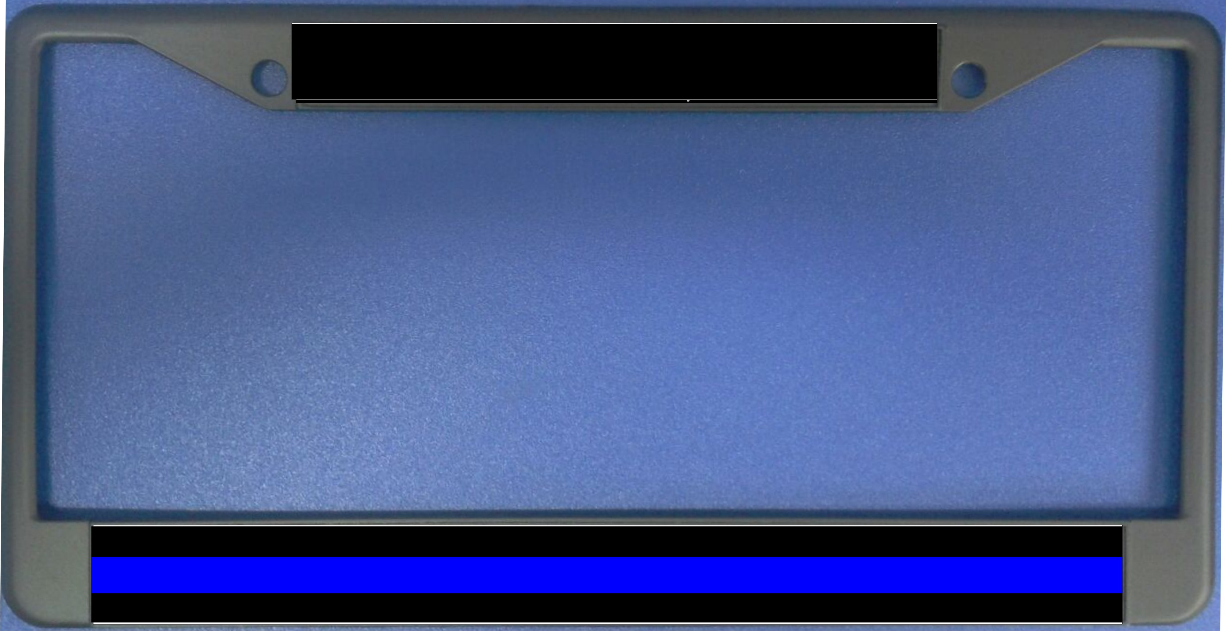 Police Thin Blue Line Photo License Plate Frame Police Thin Blue ...