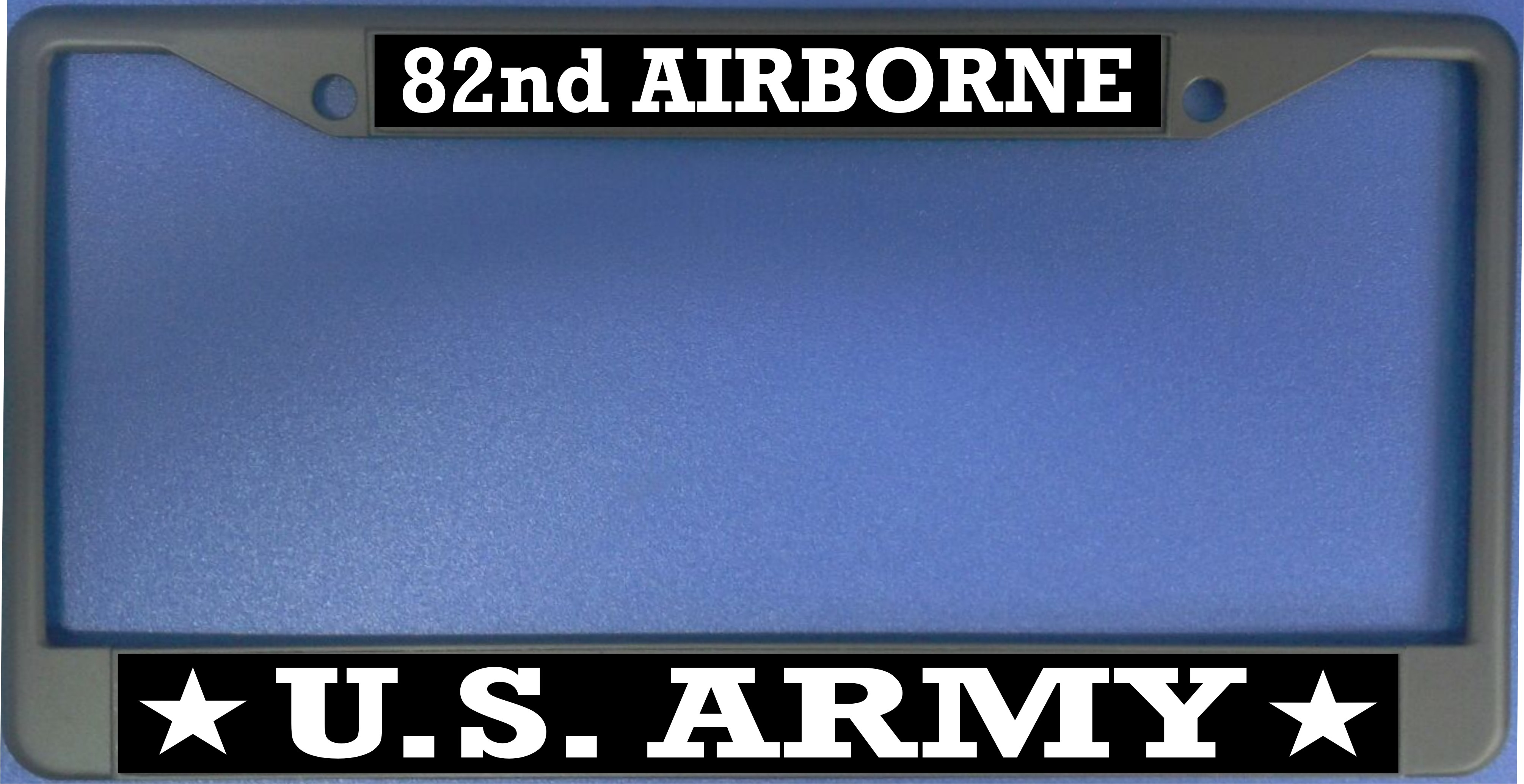 U.S. ARMY 82nd Airborne Photo License Plate Frame  Free Screw CAPs with this Frame