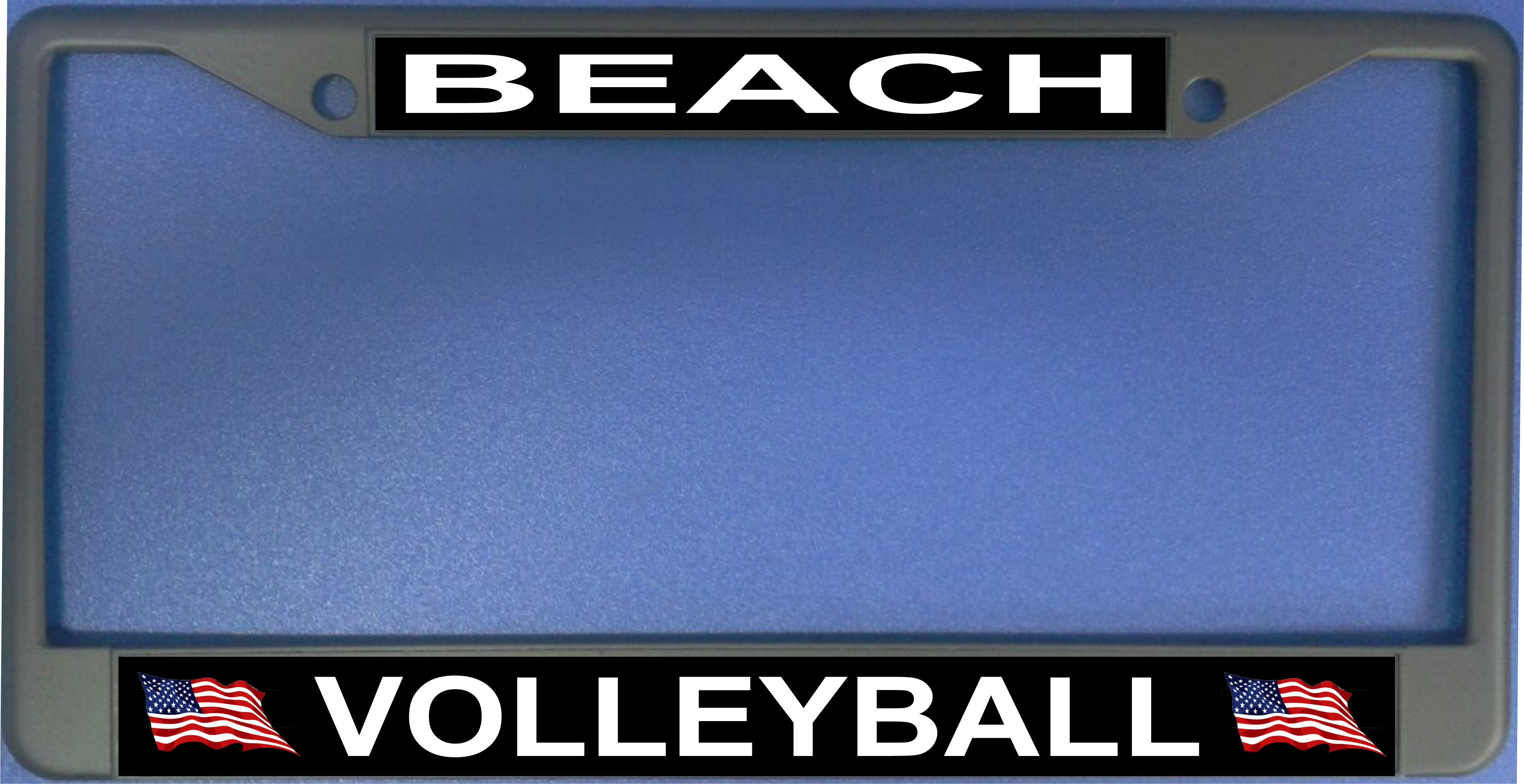 Beach VOLLEYBALL Photo License Plate Frame  Free Screw Caps with this Frame