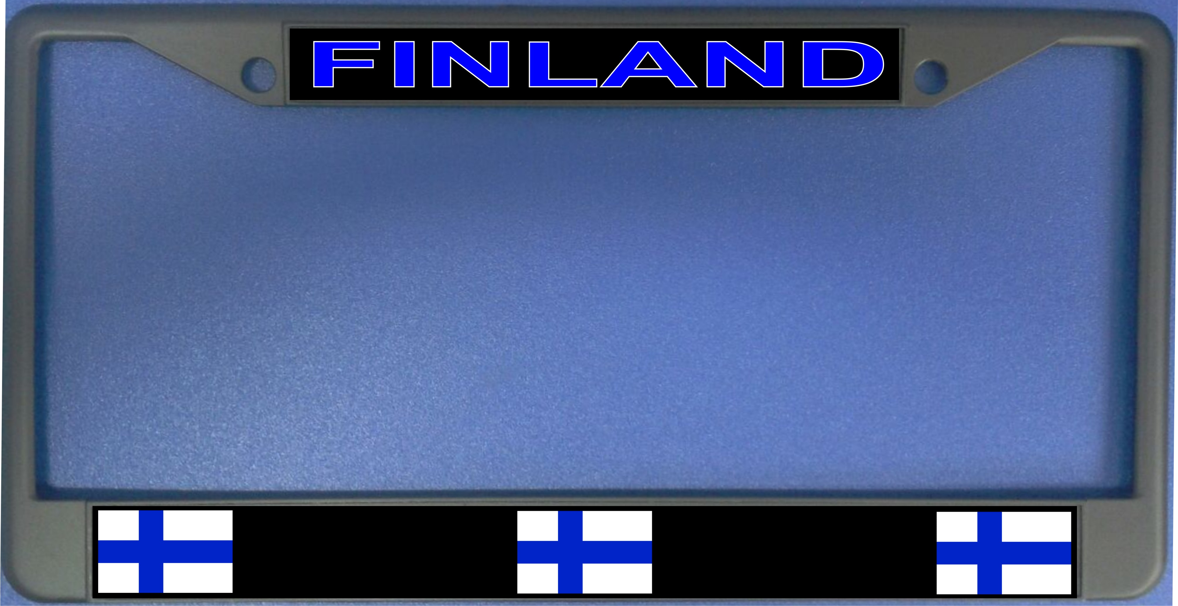 Finland FLAG Photo License Plate Frame  Free Personalization on this Plate
