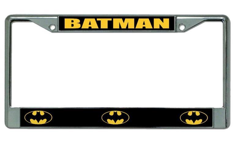 Batman Logo Chrome License Plate Frame Batman Logo Photo License ...