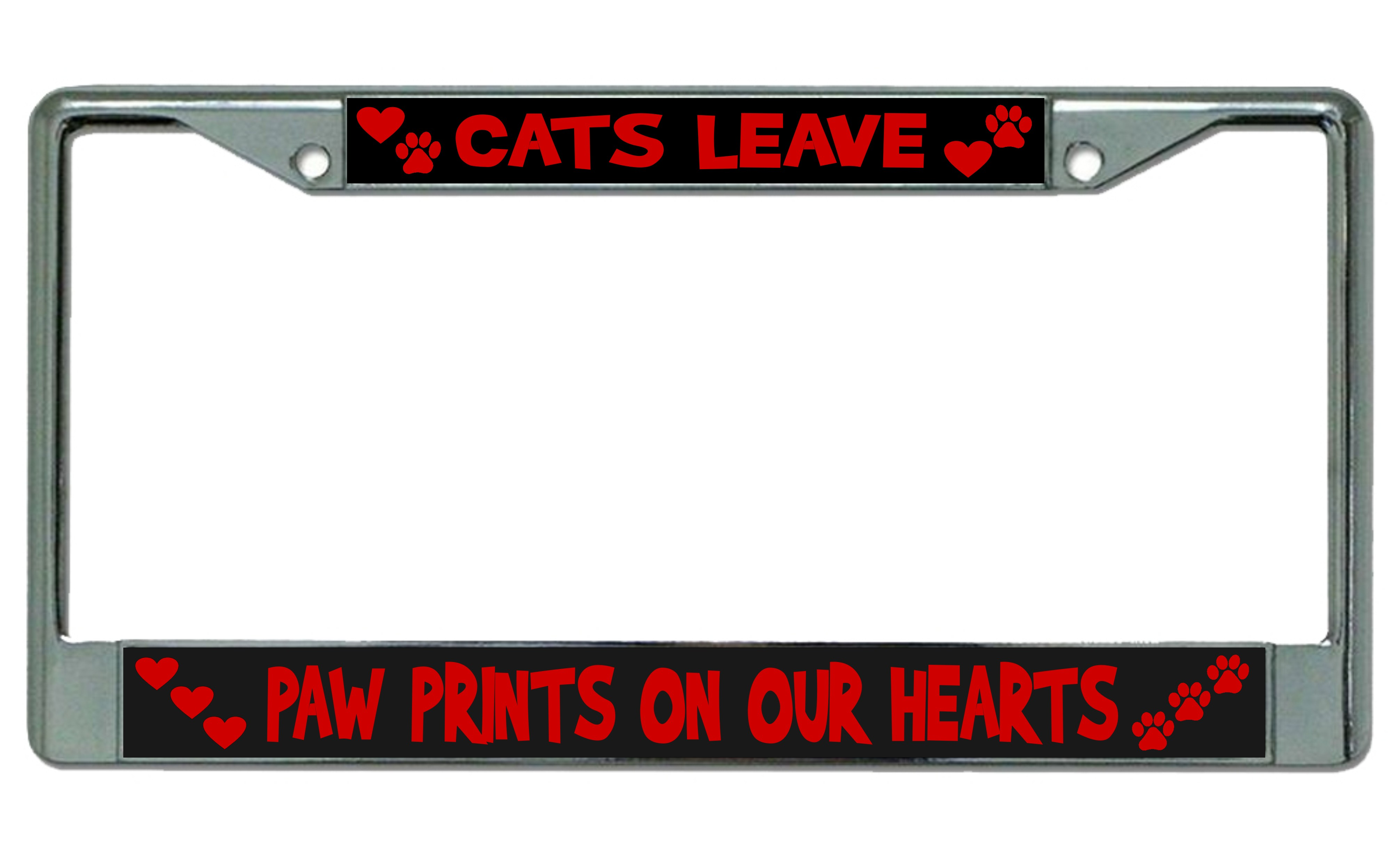 Dorable Cat License Plate Frame Embellishment - Picture Frame Ideas ...