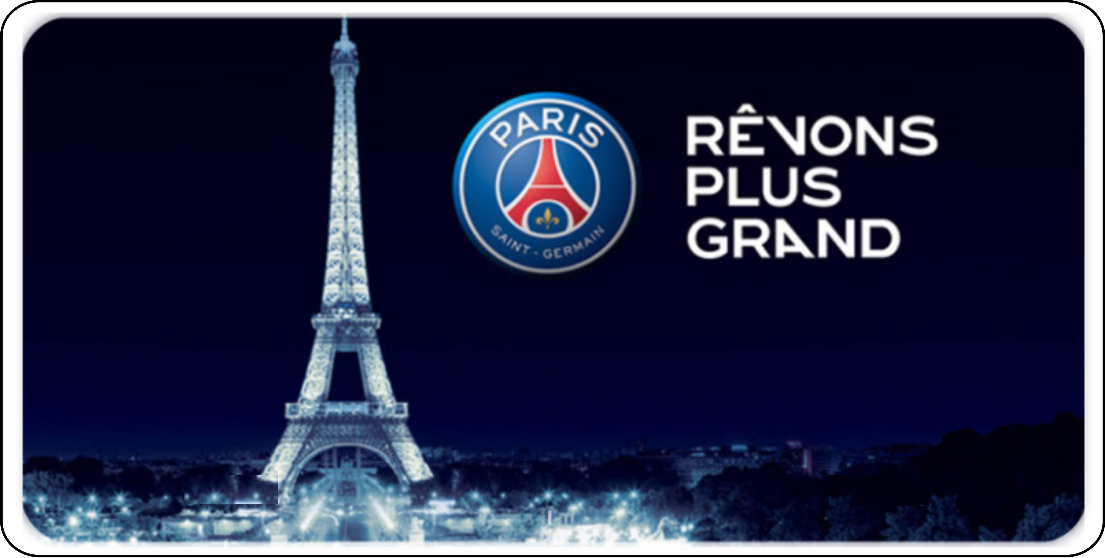 Paris Saint Germain Eiffel Tower Soccer Photo License Plate Paris Saint Germain Eiffel Tower Soccer Photo License Plate Lpo2482 11 99