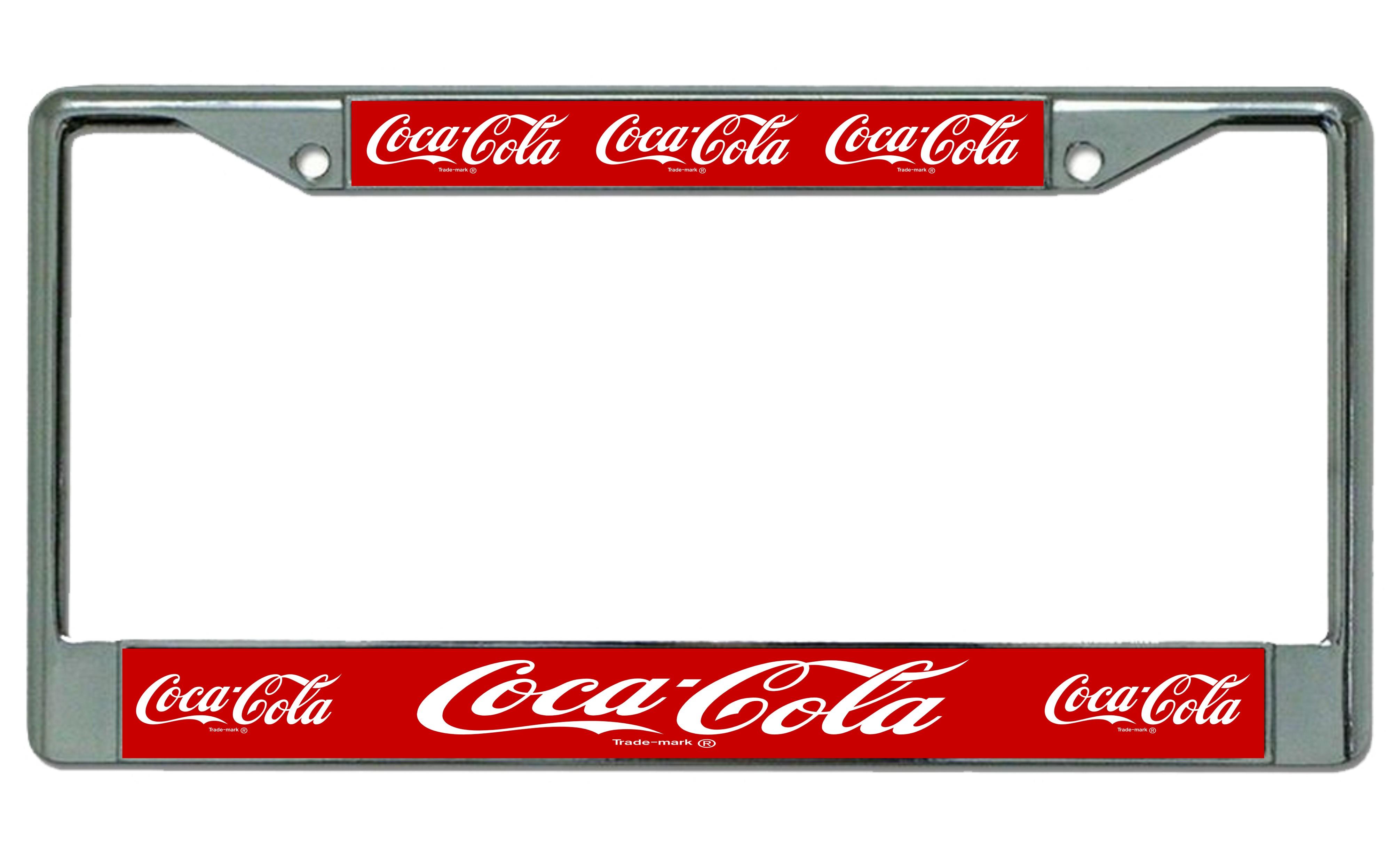 Coca Cola Multiple Logo Photo License Plate Frame Coca Cola Multiple ...