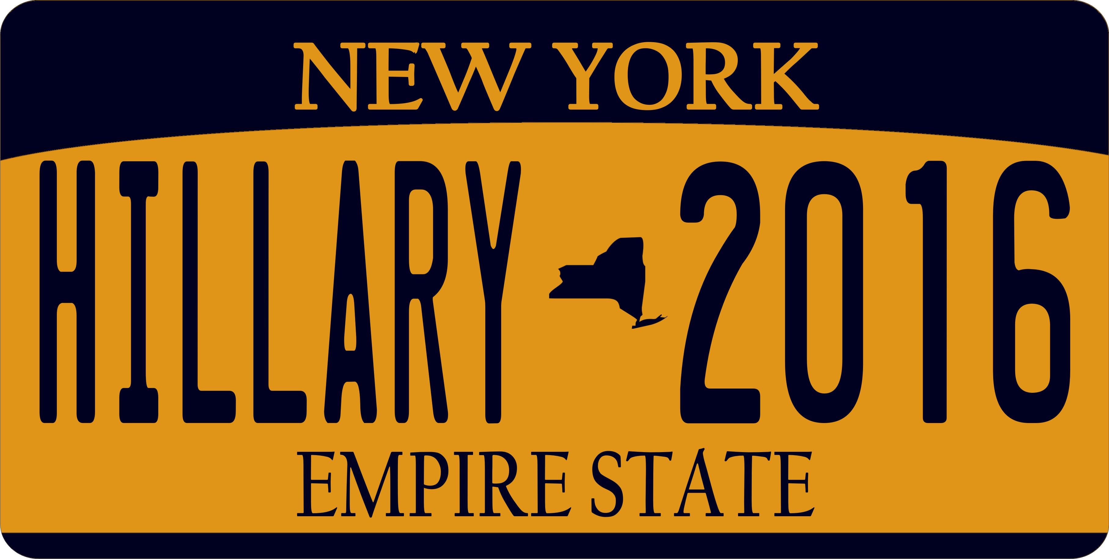 New York State Hillary 2016 Photo License Plate New York State ...